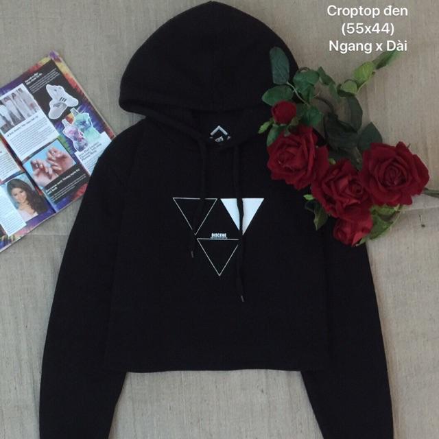 Áo croptop hoodie
