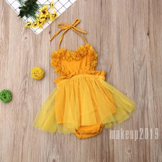 Mu♫-Infant Newborn Baby Girl Summer Lace Romper Clothes Playsuit Dress Outfit