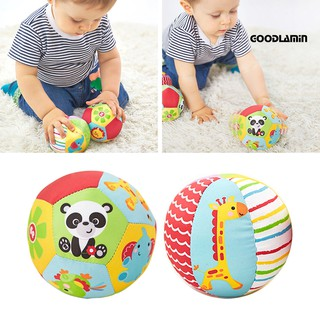 Toddler Soft Stuffed Ball Pattern Bell Sports Crib Toy