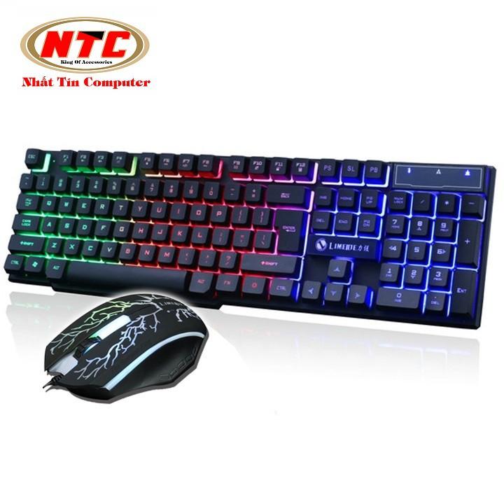 Bộ bàn phím giả cơ và chuột game Limeide GTX300 led đa màu (Đen)