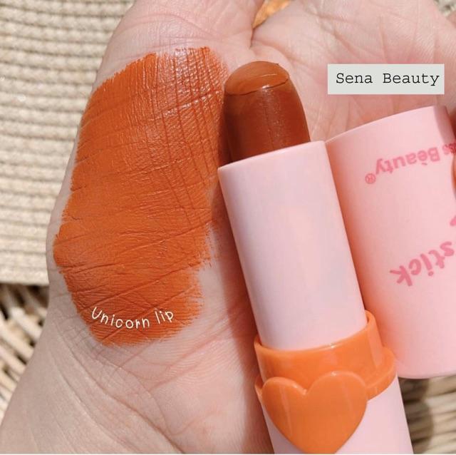 (SS5) Full Set 5 Cây Son Kiss Beauty Vỏ Hồng Unicorn Colors