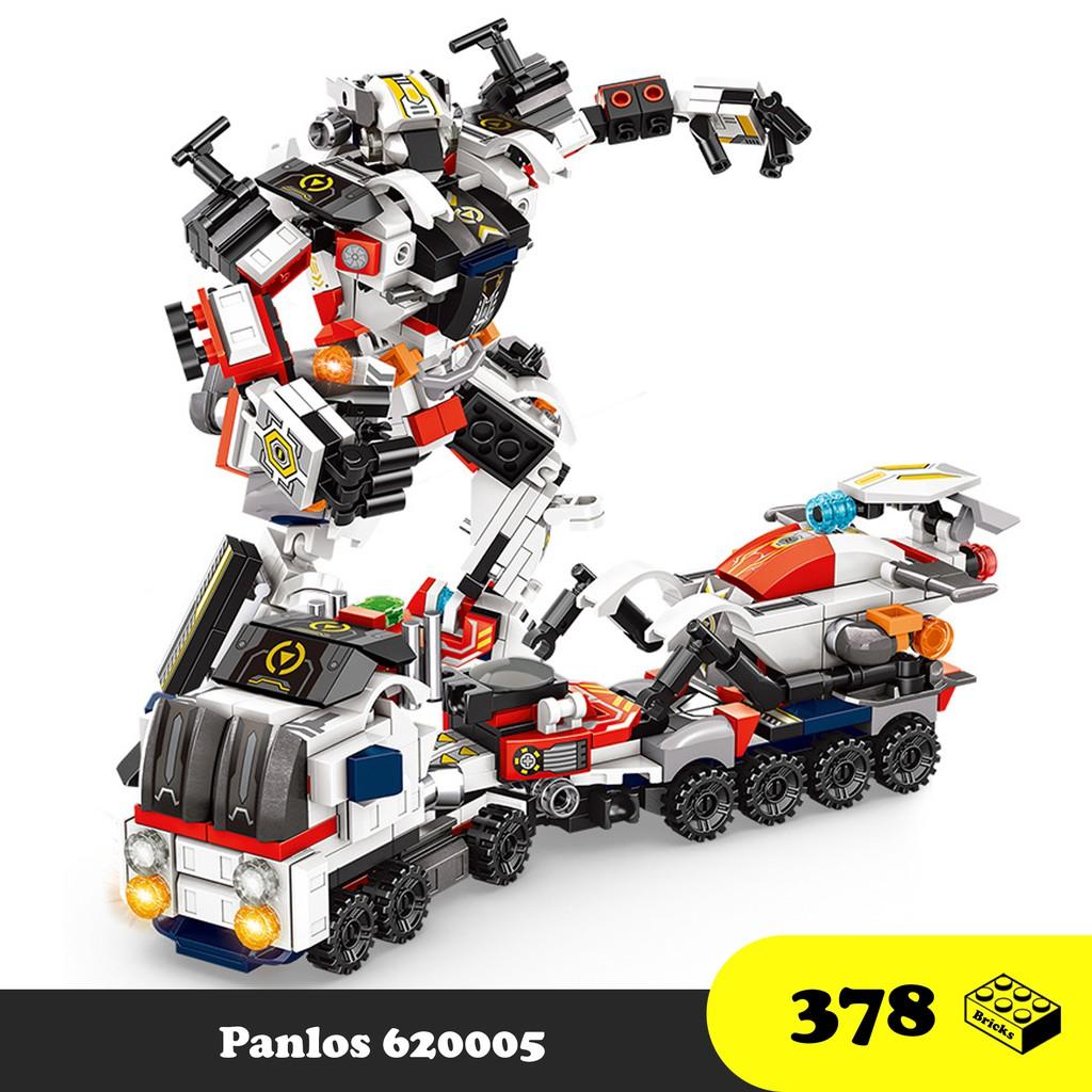Panlos 620005 – Đồ chơi lắp ráp Robot biến hình 8 trong 1 – Xếp hình Robot siêu nhân vũ trụ