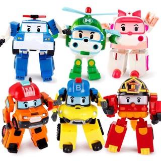 Bộ 6 biệt đội Robocar Poli biến hình