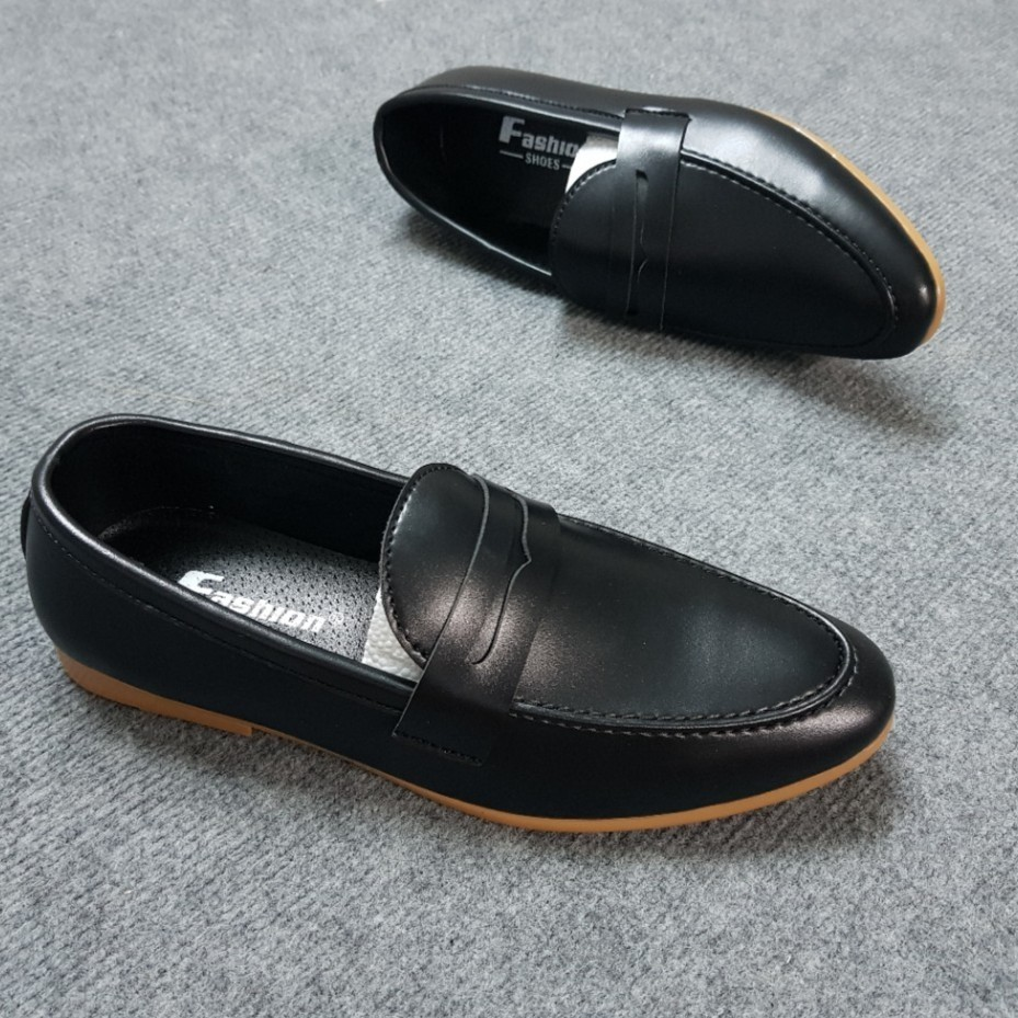 Giày Tây Nam Đế Vàng/Đen Sang Trọng