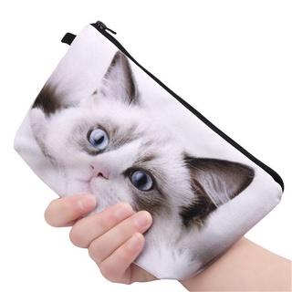 Panda/Cat/Dog Printed Women Wallet Brush Storage Makeup Phone Purse Cosmetic Handbag