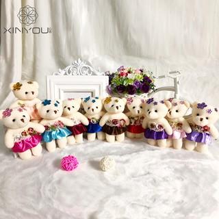 Gấu bông nữ mặc váy hoa đủ màu – mẫu số 2