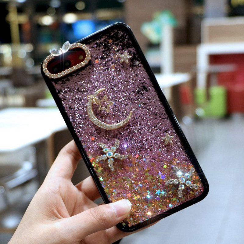 IPhone 6 7 8 Plus X XS XR XS Max Bling Quicksand Phone Case