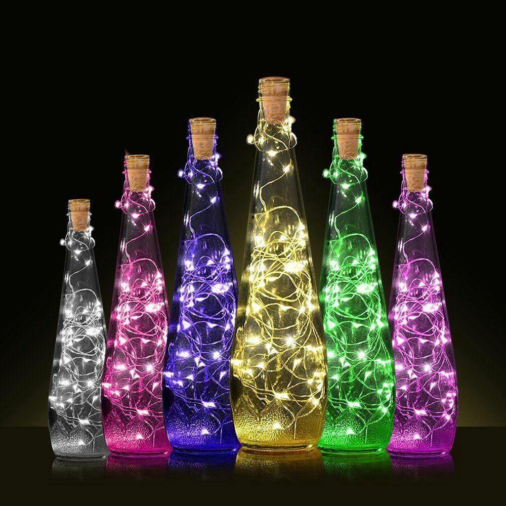 20 Đèn Led Hình Nút Bần Chai Rượu Dùng Trang Trí Tiệc Cưới - Đèn trang trí