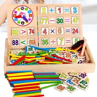 Bộ đồ chơi tính toán bằng gỗ siêu thú vị dành cho các bé