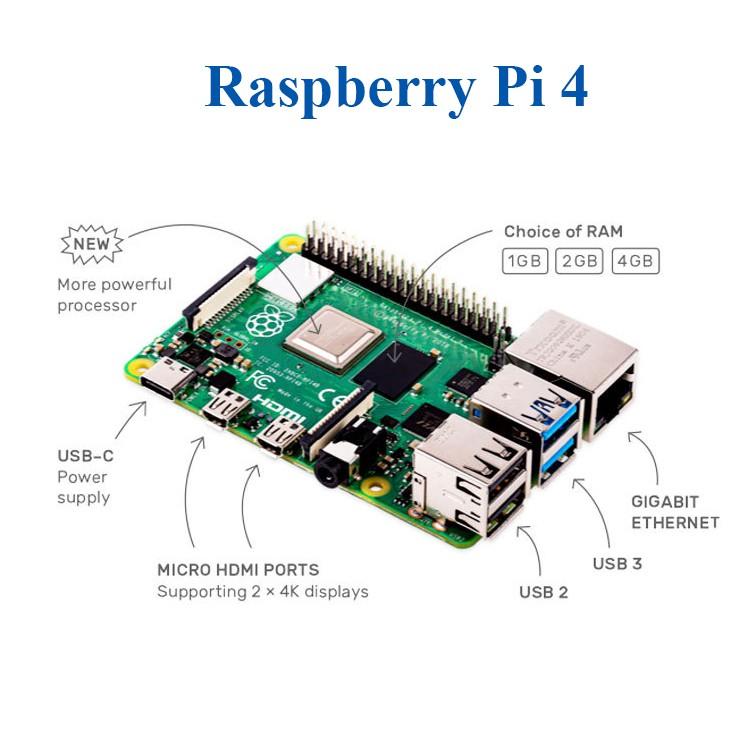 [Mã ELCL05 giảm 5% đơn 500K] Máy tính nhúng Raspberry Pi 4