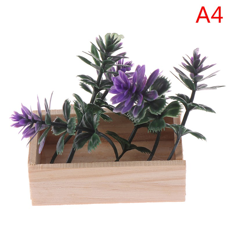 ★ƯU ĐÃI ★1:6 Dollhouse miniature potted plant flowers pot doll house decor
