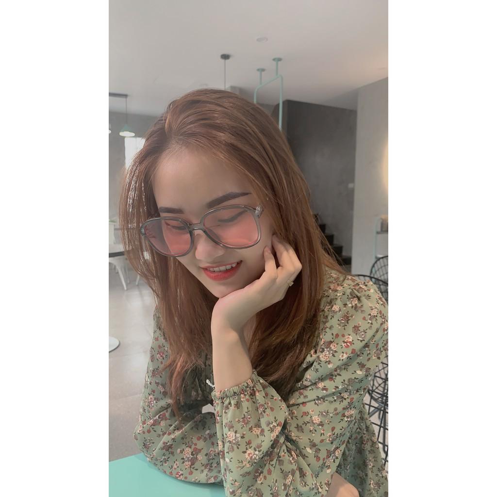 [Mã FAFS9 hoàn 20% đơn 99K] Kính mắt nữ gọng tròn , kính mắt nữ Hàn Quốc chống tia UV400