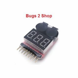 Modun kiểm tra và báo áp thấp pin 1-8 S Lipo Li-Ion Fe cho máy bay MJX Bugs 2