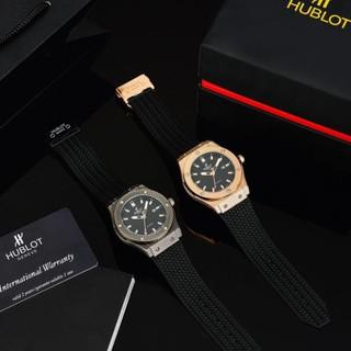 Đồng hồ nam Hulo mặt tròn size 42 caro cao cấp dây da chống nước DH203 shop106