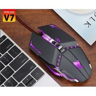 Chuột quang chơi game có dây V7 RGB thumbnail