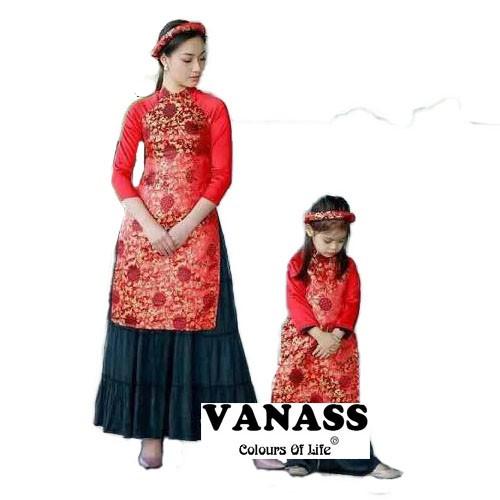Set áo dài cách tân mẹ và bé VADD02 - 2862748 , 687741761 , 322_687741761 , 600000 , Set-ao-dai-cach-tan-me-va-be-VADD02-322_687741761 , shopee.vn , Set áo dài cách tân mẹ và bé VADD02