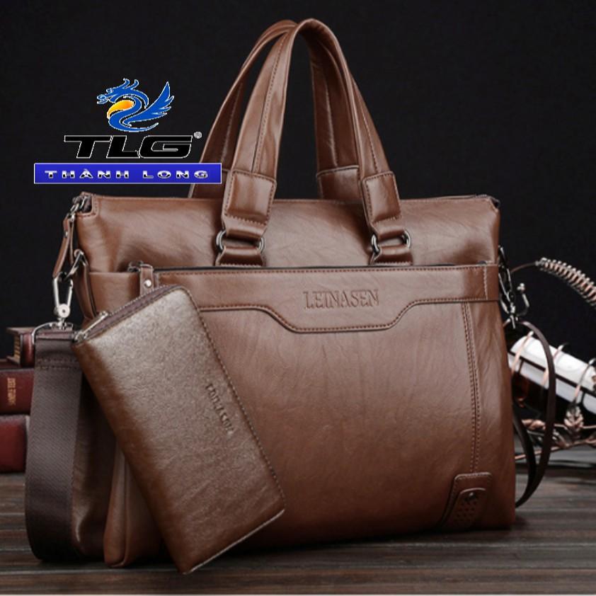 Bộ túi ví nam cao cấp Đồ Da Thành Long TLG 208159-449 (nâu)