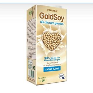 DATE 01/2021 Sữa Đậu Nành GOLDSOY VINAMILK không đường 1L