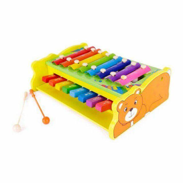 Giảm 20% Đàn gỗ piano 2 thanh gõ và phím bấm âm
