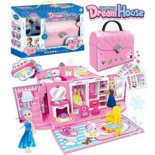 Bộ đồ chơi mô hình nhà hiện đại Frozen Dreamhouse của Elsa và Anna