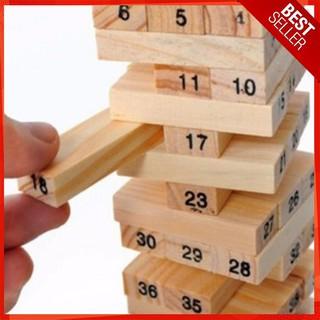 [FLASH SALE] Bộ Đồ Chơi Rút Gỗ 48 Thanh – Domino gỗ [ẢNH THẬT]