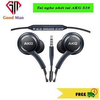 Tai nghe có dây cao cấp samsung AKG s10 màu đen, hộp nhựa sang trọng, âm thanh trầm ấm rất êm tai