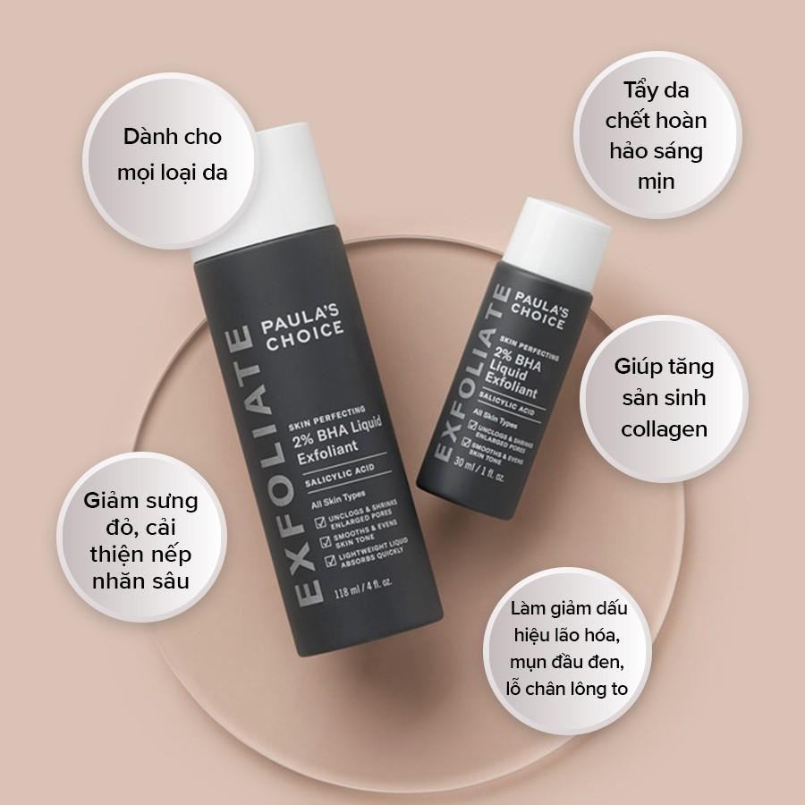 Dung Dịch Loại Bỏ Tế Bào Chết Paula's Choice Skin Perfecting 2% BHA Liquid Exfoliant (118mL)