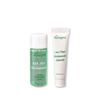 Bộ Dưỡng Da The Auragins Dành Cho Da Dầu Mụn 2 Steps Skin Care for Oily Skin- Toner và Gel Cream Minisize thumbnail