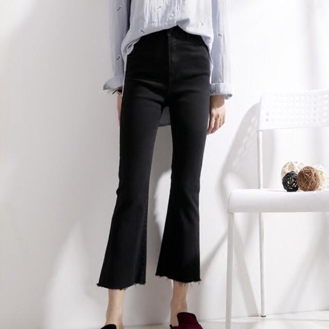 Quần jeans đen ống loe #149k