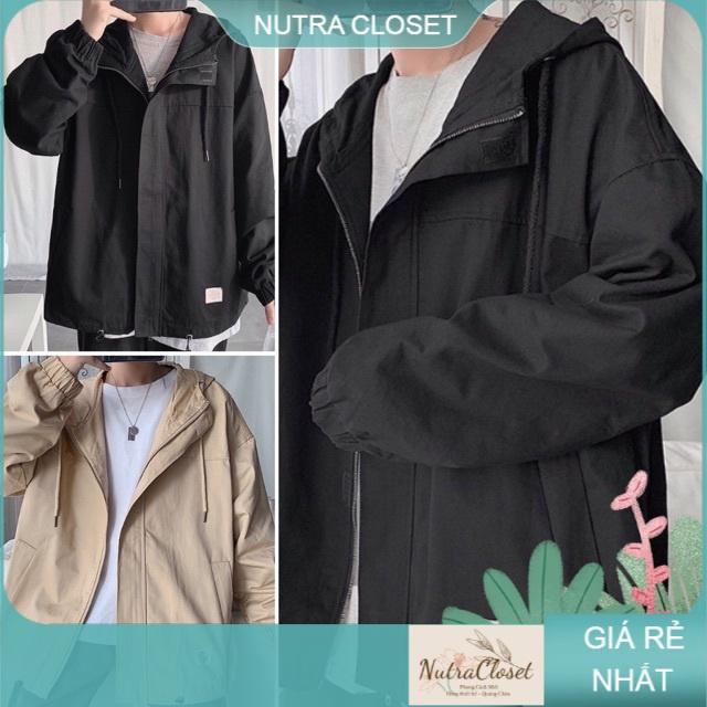 Áo khoác kaki 2 lớp ulzzang unisex NUTRA nam nữ basic