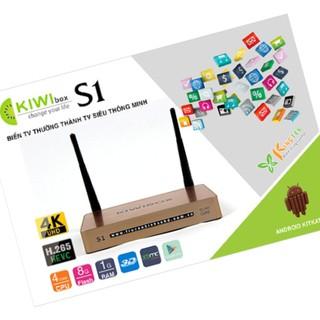 Đầu Thu Androi TV Box Kiwi S1 + Chuột V181 - Đầu Androi TV Box