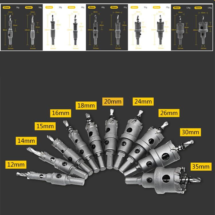 Bộ 10 mũi khoét lỗ hợp kim - 9925228 , 734483410 , 322_734483410 , 450000 , Bo-10-mui-khoet-lo-hop-kim-322_734483410 , shopee.vn , Bộ 10 mũi khoét lỗ hợp kim