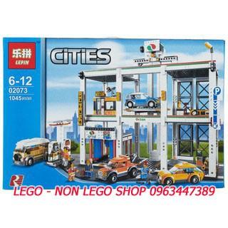 Lego Lepin 02073 ( Xếp hình Gara Để Xe Công Cộng 1045 khối )