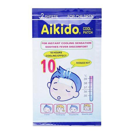 Miếng dán hạ sốt, chườm lạnh Aikido ( túi 2 miếng, hộp 3 túi ...