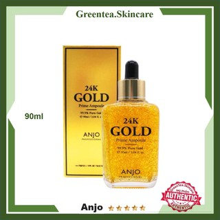 Serum Dưỡng Da Anjo FREESHIP TINH CHẤT ĐẬM CHẤT 24K GOLD PRIME AMPOULE ANJO 90ML thumbnail