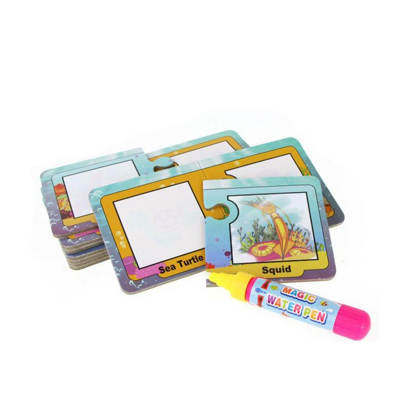 Drawing Graffiti Ocean World Card with 1 Magic Pen Cognitive Painting Board