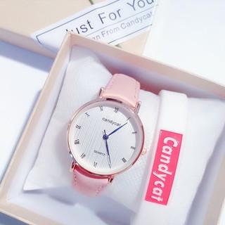 Đồng hồ nam nữ Quartz dây da thời trang đẹp rẻ DH22 thumbnail