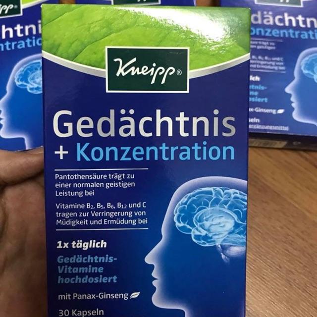 Viên uống bổ não, hỗ trợ tiền đình Gedachtnis Konzentration - 2840262 , 953123519 , 322_953123519 , 299000 , Vien-uong-bo-nao-ho-tro-tien-dinh-Gedachtnis-Konzentration-322_953123519 , shopee.vn , Viên uống bổ não, hỗ trợ tiền đình Gedachtnis Konzentration