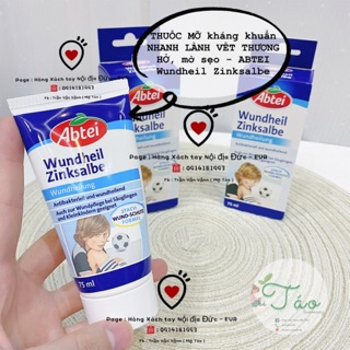 THUỐC MỠ kháng khuẩn NHANH LÀNH VẾT THƯƠNG HỞ, mờ sẹo - ABTEI Wundheil Zinksalbe thumbnail