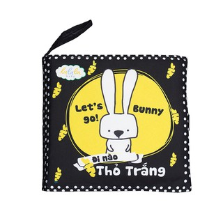 Sách vải Lalala Baby – Đi nào thỏ trắng – Sách song ngữ, Made in Vietnam