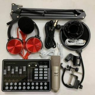 Combo mic ISK AT100 + Soundcard H9 Full bộ - TẶNG TAI CHỤP thumbnail