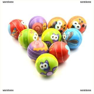 warmhome 1PCS 6.3cm Hand Wrist Exercise PU Rubber Toy Balls Snails Print Sponge Foam Ball thro