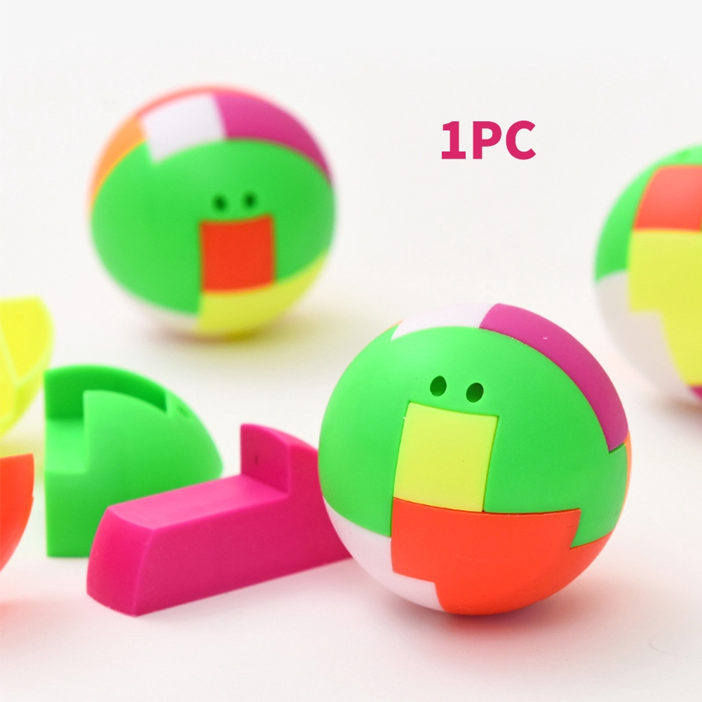 High Quality Intelligence Colorful Puzzle Assembly Ball Kids Game Funny Toys