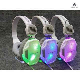 (GIÁ HỦY DIỆT) Headphone Siêu Trâu Quilian A7 Dây Dù Bọc Silicon Cực Chắc Led Đổi Màu