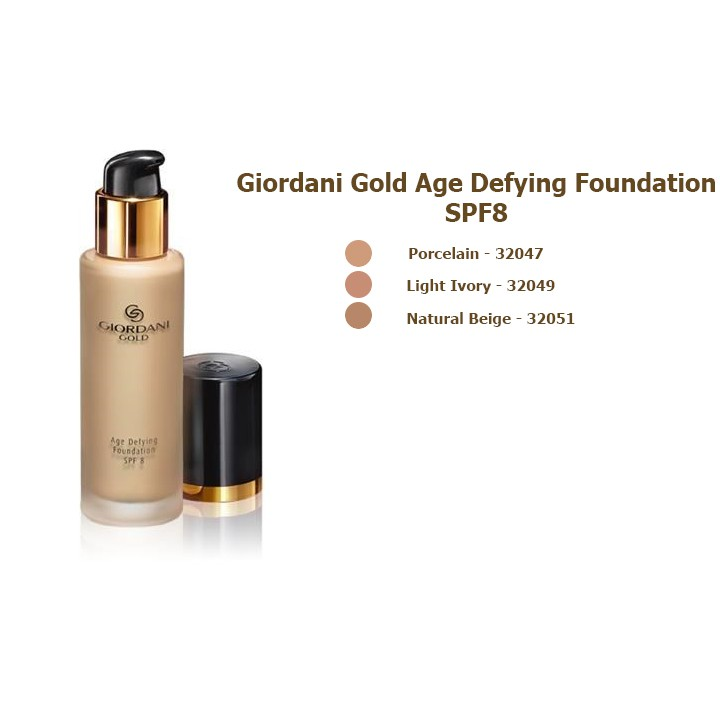 Kem nền oriflame Giordani Gold Age Defying Foundation SPF 8 - Oriflame 32047 / 32049 / 32051 - 2550281 , 557049602 , 322_557049602 , 395000 , Kem-nen-oriflame-Giordani-Gold-Age-Defying-Foundation-SPF-8-Oriflame-32047--32049--32051-322_557049602 , shopee.vn , Kem nền oriflame Giordani Gold Age Defying Foundation SPF 8 - Oriflame 32047 / 32049 /