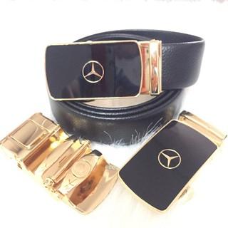 [HÀNG HIỆU] Thắt Lưng Da Nam Cao Cấp Khóa Tự Động Dây Nịt Da Bò 100% Chính Hãng Mercedes-Benz Mạ Vàng Bạc Nam Tính GG-9K