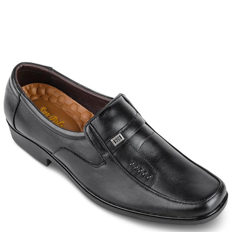 Giày Tây Nam Da Bò SUNPOLO Đen - SUS503D