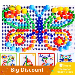 【Ready Stock】Children Puzzle Peg Board With 296 Pegs For Kids Early Educational Toys DIY Gift