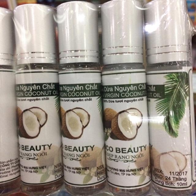 Dầu dừa nguyên chất 100% lăn bi dưỡng môi