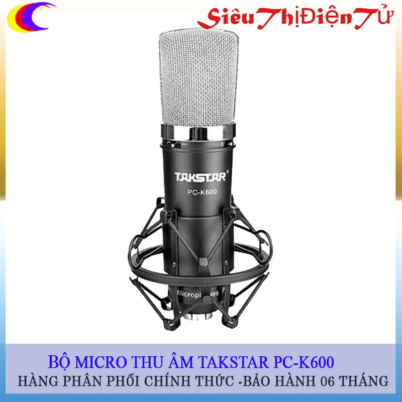 Micro thu âm TAKSTAR PC-K600 - 2923037 , 692861279 , 322_692861279 , 1890000 , Micro-thu-am-TAKSTAR-PC-K600-322_692861279 , shopee.vn , Micro thu âm TAKSTAR PC-K600